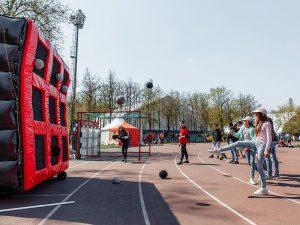 Открытие футбольной площадки на территории Олимпийского комплекса Лужники